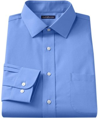 Croft & Barrow Men's Classic-Fit Easy Care Solid Spread-Collar Dress Shirt