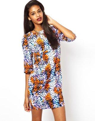 Asos Bright Animal T-shirt Dress