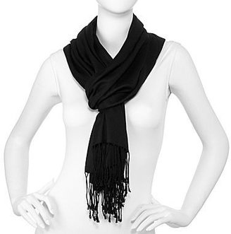 JCPenney Oversize Solid Twill Fringe Scarf
