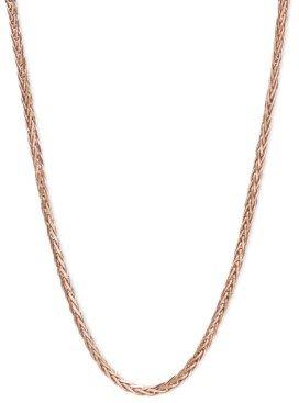 "Macy's 14k Rose Gold Necklace, 16"" Diamond Cut Wheat Chain (9/10mm)"