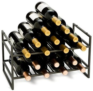 Container Store 4-Bottle Iron Stacking Wine Rack Pewter