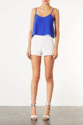 Topshop Lace High Waisted Shorts