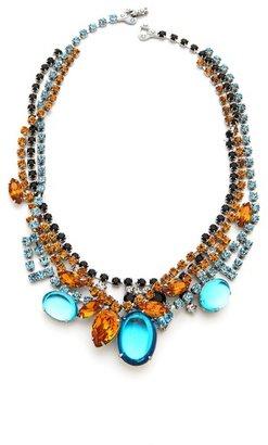 Tom Binns Topaz & Crystal Tangled Necklace