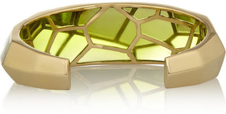 Isharya Louvre gold-plated resin cuff