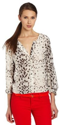 Joie Women's Purine Snow Leopard Print Blouse