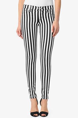 Hudson Jeans Krista Super Skinny- Black & White Stripes