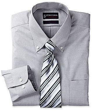 JCPenney Stafford® Performance Pinpoint Oxford Dress Shirt with Button-Down Collar