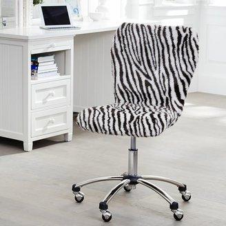 STUDY Zebra Fur Airgo Arm + Armless Chair