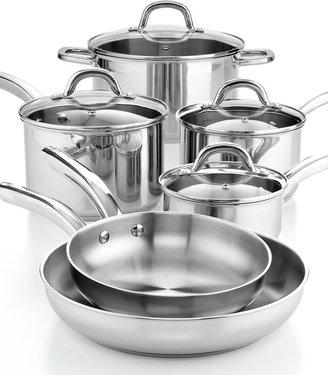 """ Martha Stewart Collection Stainless Steel 10 Piece Cookware Set"
