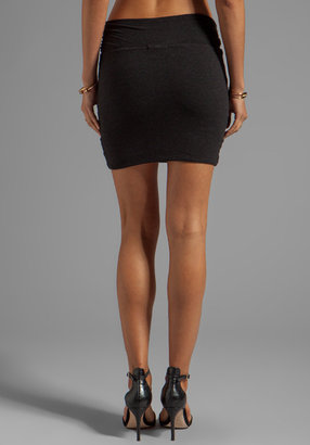 James Perse Wrap Waist Mini Skirt