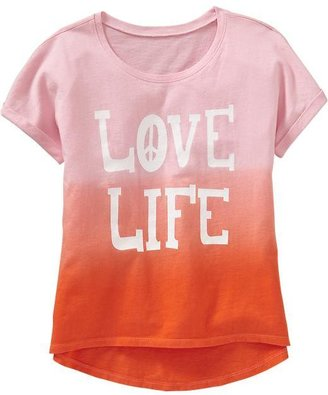 Old Navy Girls Printed Jersey Tees