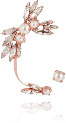 Swarovski Ryan Storer Rose gold-plated, crystal and pearl ear cuff