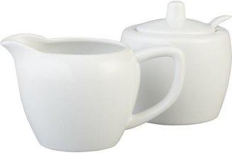 Crate & Barrel Creamer/Sugar Bowl with Spoon