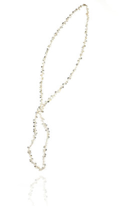 Wallis Silver Disc Knot Necklace