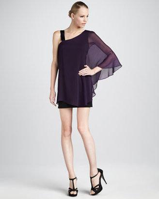 Erin Fetherston One-Shoulder Chiffon Dress