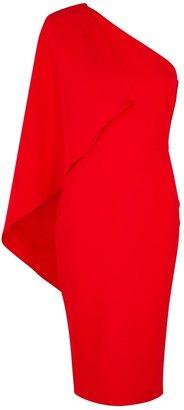 Lavish Alice Red One-shoulder Midi Dress