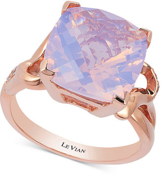 Le Vian Lavender Quartz (5-9/10 ct. t.w.) and Diamond (1/10 ct. t.w.) Ring in 14k Rose Gold $2,400 thestylecure.com