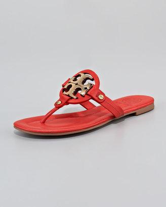 Tory Burch Miller Logo Flat Thong Sandal