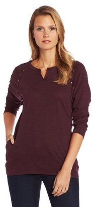 Democracy Women's V-Neck Top with Studs and Pockets