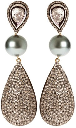 Samira13 silver drop earrings