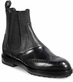 Pierre Hardy Brogue Leather Ankle Boots
