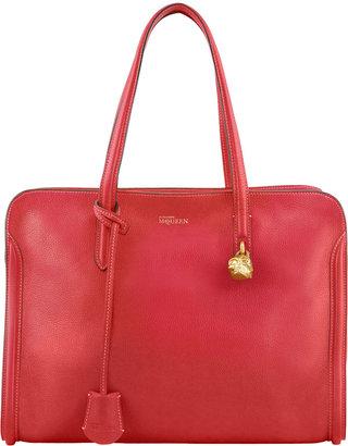 Alexander McQueen Skull Padlock Zip-Around Tote Bag, Pink