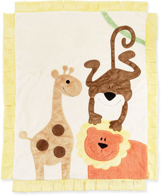 Boogie Baby Wild Ones Animal Blanket, Cream