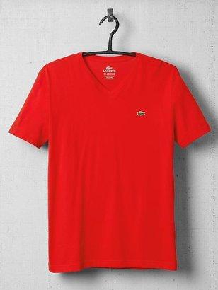 Lacoste Short Sleeve Pima Jersey V-Neck Tee Shirt