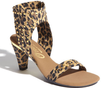 Onex 'Showgirl' Sandal Leopard Elastic 5 M
