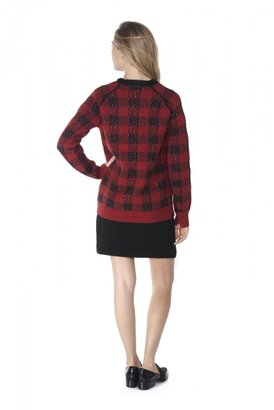 3.1 Phillip Lim Tweed Plaid Pullover