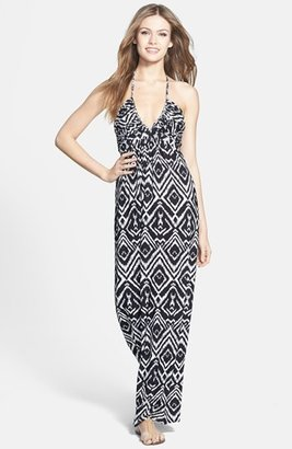 T-Bags Tbags Los Angeles Print Jersey Maxi Dress