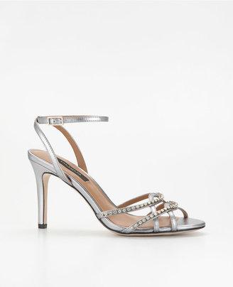 Ann Taylor Strappy Crystal Sandals