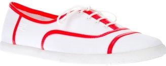 Courreges bi-colour tennis shoe