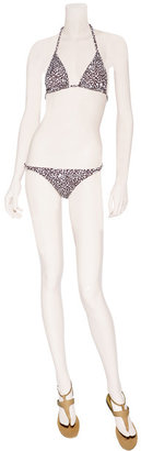 Diane von Furstenberg Mini Spot Leopard Chocolate Kaylin Bikini