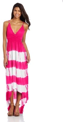 Southpole Juniors Long Dress with Thick Bottom Horizontal Stripes