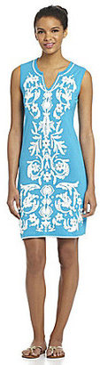 Chelsea & Theodore Embroidered Knit Dress