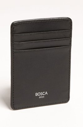 Bosca Leather Money Clip Card Case