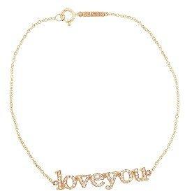 Jennifer Meyer Rose Gold Diamond Loveyou Bracelet