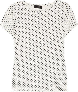 A.P.C. Heart-print cotton T-shirt