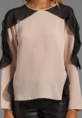 BCBGMAXAZRIA Shoulder Detail Top