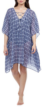 Gottex Nomad V-Neck Strappy Coverup Dress