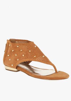 Leila Studded Perforated Leather Sandal