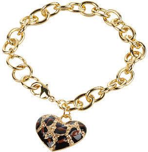GUESS Leopard Heart Charm Bracelet