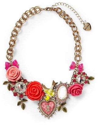 Betsey Johnson Rose Bird Necklace