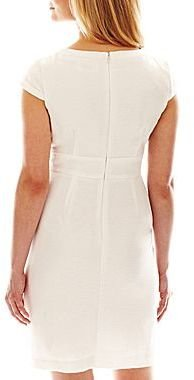 JCPenney Cap-Sleeve Button Detail Dress