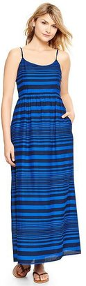 Gap Striped woven maxi dress