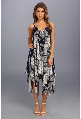 DKNY Tribal Tie Dye Hankerchief Dress
