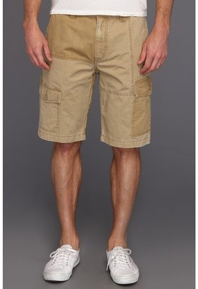 Calvin Klein Jeans Chino Trouser Short w/ Pop Waistband (Khaki) - Apparel