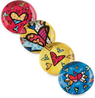 Bed Bath & Beyond BrittoTM by Giftcraft Heart Design Glass Magnets