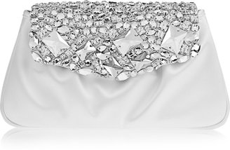 Yves Saint Laurent Swarovski crystal-embellished satin clutch
